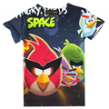 T-shirts for boys angry birds Cartoon Short Sleeve Child shirt children super cheap clothing