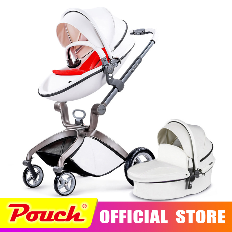 цена Hot mother stroller baby carriage high landscape can sit or lie on pneumatic wheel portable baby carts cart