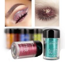 Popfeel 12pcs/set Glitter Eye Shadow Cosmetics Makeup Diamond Loose Eyes Pigment Woman