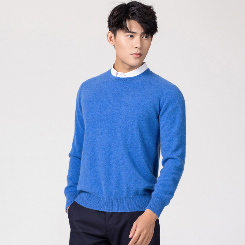 Man Pullovers Winter New Fashion Oneck Sweater Cashmere And Wool Knitted Jumpers Men Woolen Clothes Hot Sale Standard Male Tops