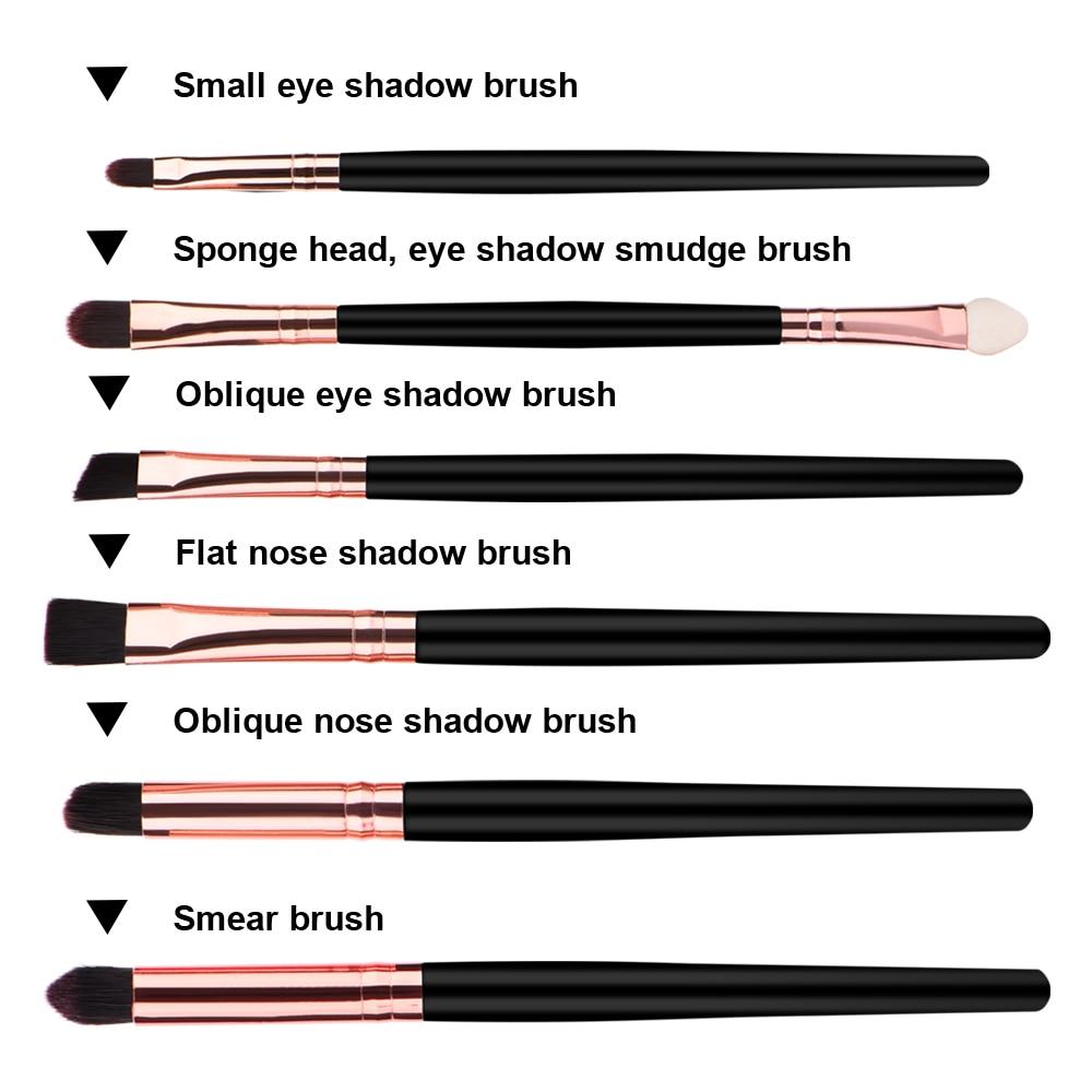 6 Pcs Profesional Makeup Kosmetik Brushes Bayangan Mata Eyeliner Tas Anyaman Kulit Asli Chameo Couture Finn Brown Cokelat Tua 0 1 2 9 10 16 17