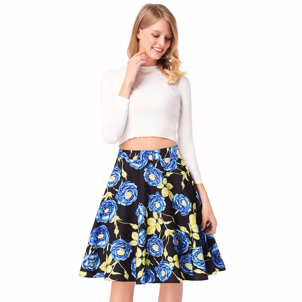 Bohemia Encaje Largas púrpura fucsia Azul Faldas Vintage Flor Retro Floral Tulle Adulto Tutu Midi Boho Plisadas Damas Moda Mujer 2017 Maxi Lápiz qaRWgZZ