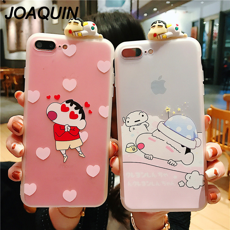 3D Cartoon Crayon Shin Chan Phone Case For IPhone X XS MAX