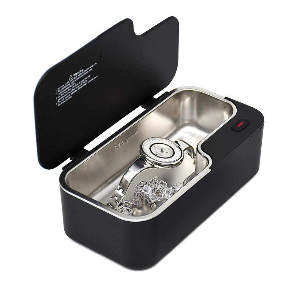 GTSONIC X1 Ultrasonic Cleaner 450ml for Eyeglass Mini Portable Ultrasonic Baths