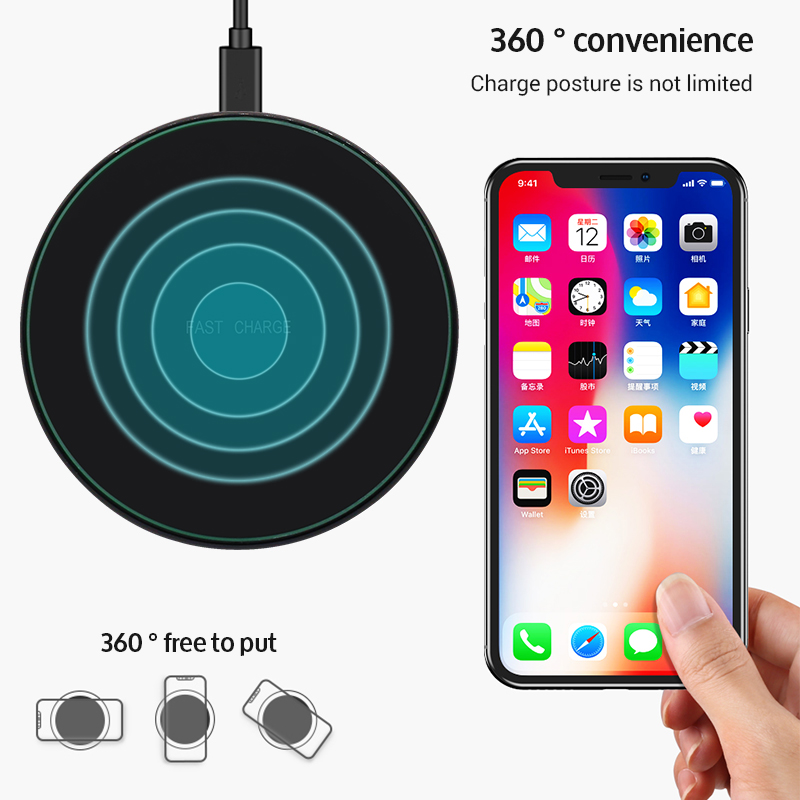 Image 5 - Sindvor Fast Wireless Charging 10W Qi Wireless Charger for Samsung S9 S10 for iPhone X XS MAX XR 8 Plus Xiaomi 9 Huawei P30 Pro-in Mobile Phone Chargers from Cellphones & Telecommunications