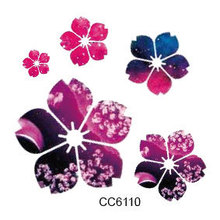 Mini Body Art Waterproof Temporary Tattoos For Women And Men Flower Design Flash Tattoo Sticker CC6110