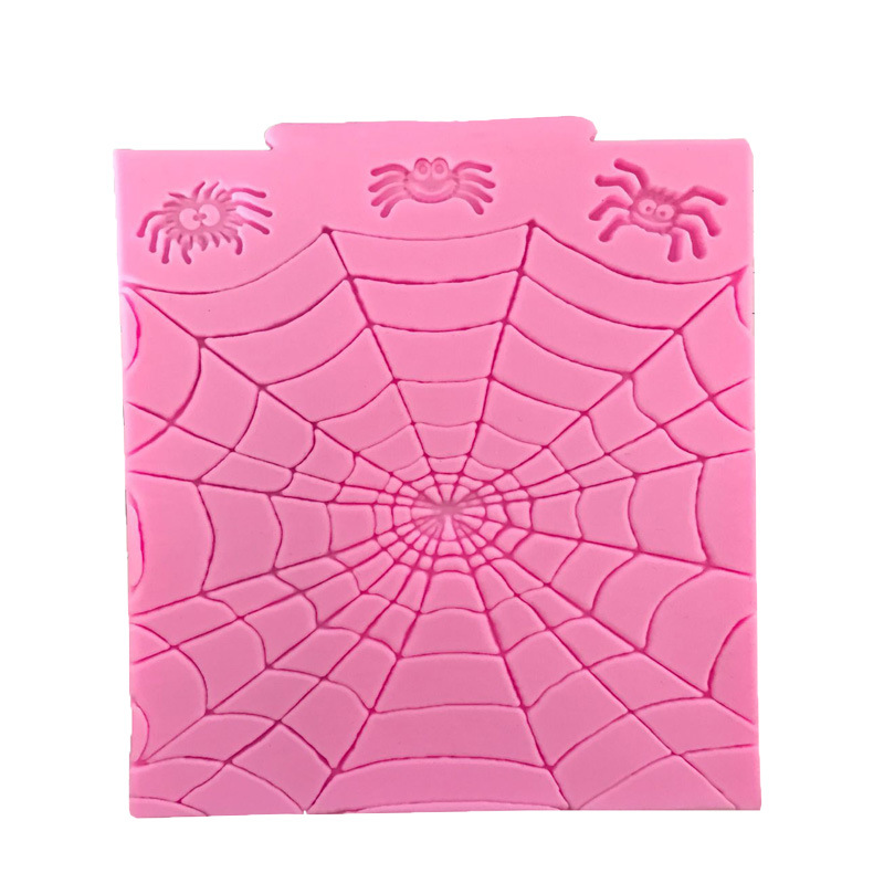 Halloween Series Spider Web Silicone Cake Mold Fondant DIY Clay Cupcake Bakeware Mold Cake Bakeware Tools Silicone Clay Extruders Halloween Mold Spiderman Cake Silicon Moul Clay Extruders
