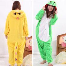 ab2093cfd1fc Animal Blue Dinosaur Onesies Kigurumi Adult Green Dragon Pajamas Pyjamas  Jumpsuit Nightwear Carnival Costumes(China