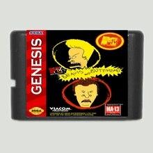 Beavis and Butt Head 16 Bit Mega Drive Game Card For Sega Genesis Video Game Console