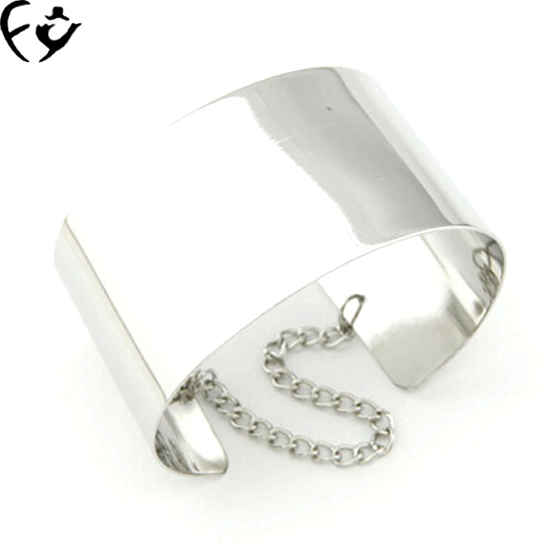 European and American fashion personality exaggerated smooth texture of metal bracelet openings