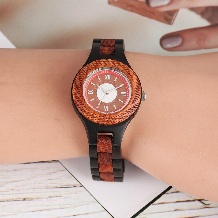 Women Watch Creative Multi-layer Circle Chic Dress Watch Dial Analog Light Slim Wooden Bracelet Quartz Wristwatch for Lady Girls 2020 (10)