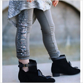 Hot selling Retail New 2015 girls sequins leggings cotton fashion personality children pants kids warm elastic waist legging