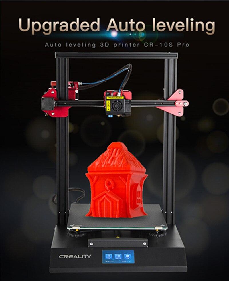 CRIATIVIDADE 3D Atualização Auto Nivelamento CR-10S Pro Toque LCD V2.4.1 Motherboard Dupla Extrusão Currículo Impressão Filamento De Detecção