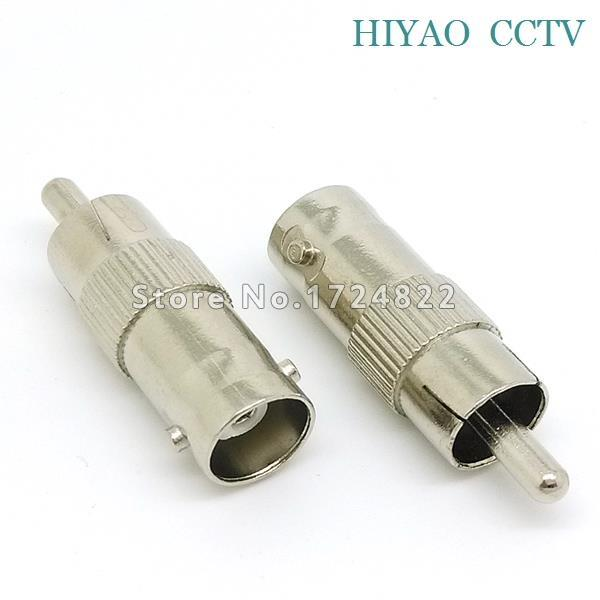 10pcs Plug RCA Male to BNC Female Jack Adapter Coax Connector Coupler for cctv camera accessories