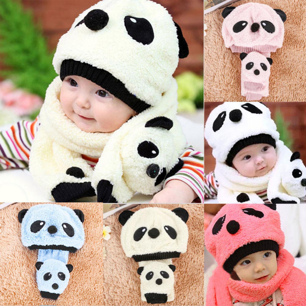 43cd5ec3135 28 Styles Kids Winter Hats Girls Boys Children Crochet Warm Caps Scarf Set Baby  Bonnet Enfant ...