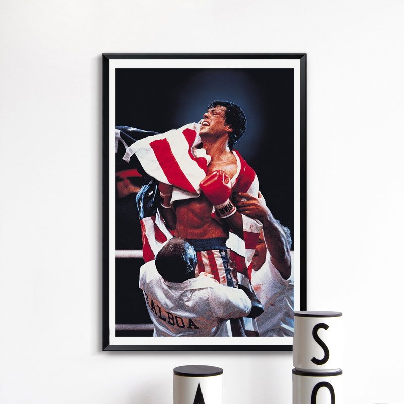 Boxing Movie Poster Canvas Painting Print Kitchen Bedroom Home Decoration Modern Wall Art Oil Painting Salon Pictures Framework image