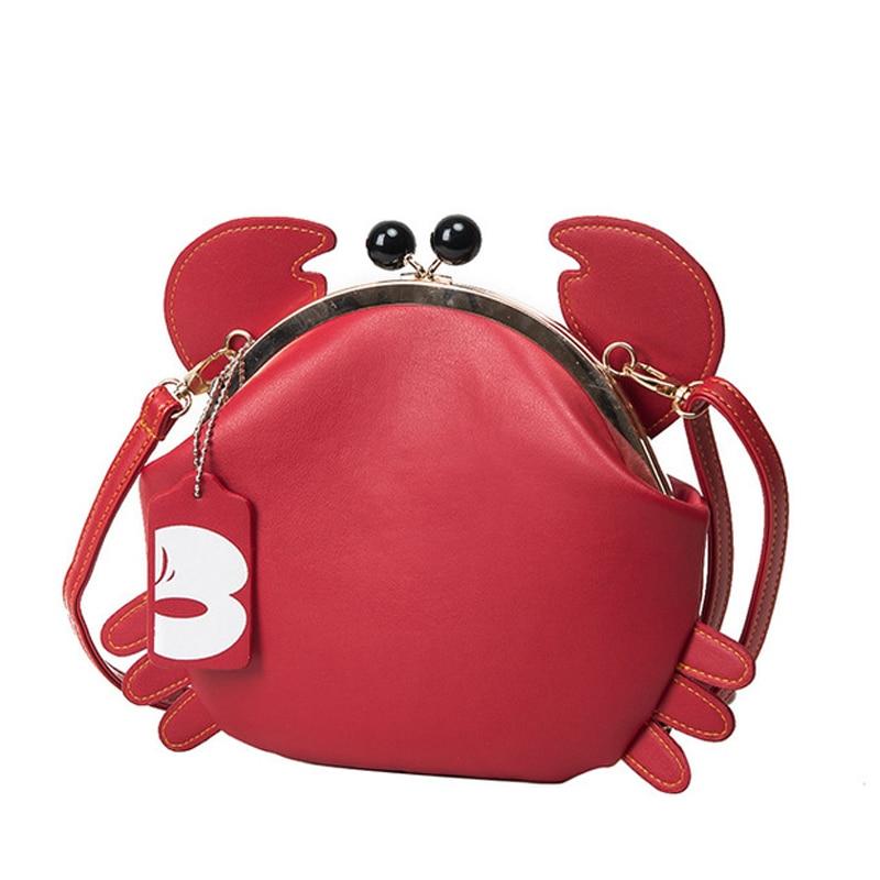 Chains Crab-Bag Messenger-Bag Crossbody-Shoulder-Bag Main Animal Girls Unique-Design