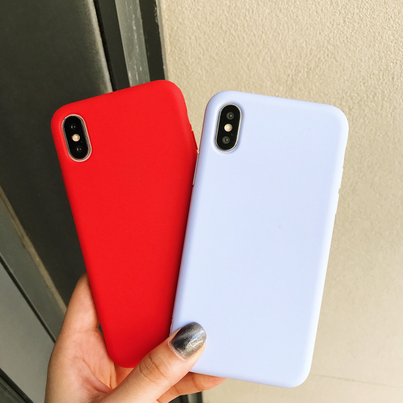 Candy Macarons Color TPU Silicone Matte For Iphone 8 Case For Iphone 6 6S 5 5S SE 8 Plus X 10 Soft Back Cover For Iphone 7 7Plus