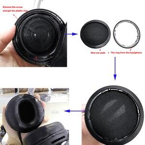 Image 5 - זווית אמיתי עור אוזן רפידות כרית earpad עבור Sony MDR Z7 Z7M2/Fostex TH600 TH900 אוזניות