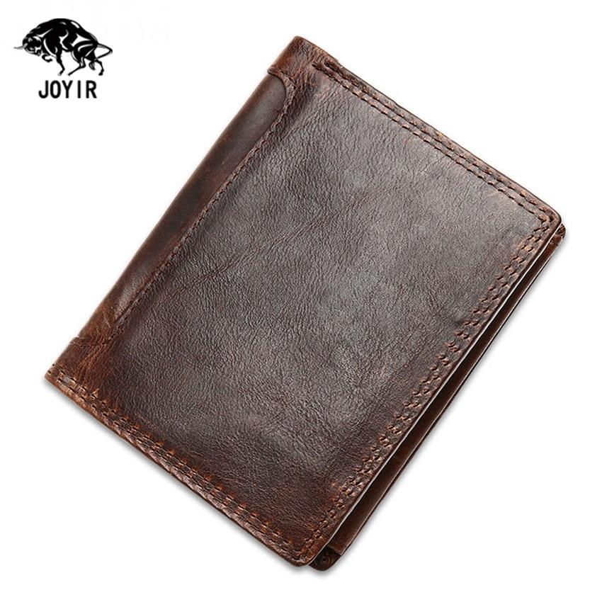 Genuine Leather Men Wallets Coin Purse Credit Card Holder ...