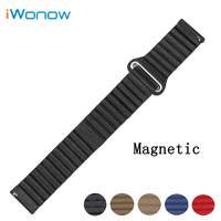 Genuine Leather Watch Band 22mm For Vector Luna Meridian Magnetic Buckle Strap Quick Release Wrist Belt