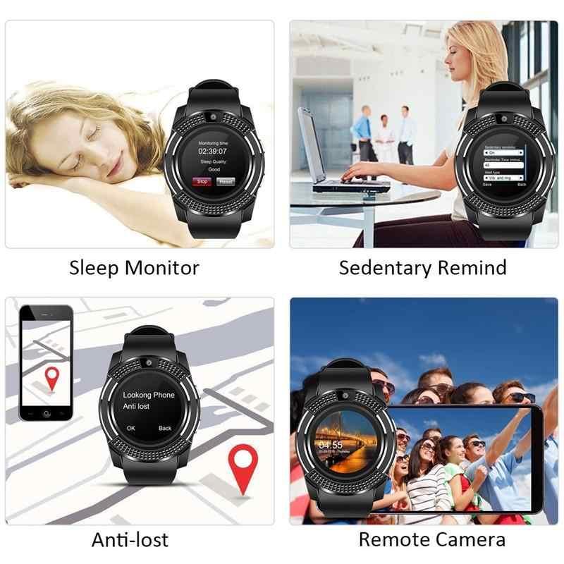 2019 Mulheres Dos Homens GEJIAN Apoio Relógio Inteligente Relógio de Pulso Com Câmera Bluetooth Tf SIM Smartwatch Para Android Telefone Do Relógio Casal