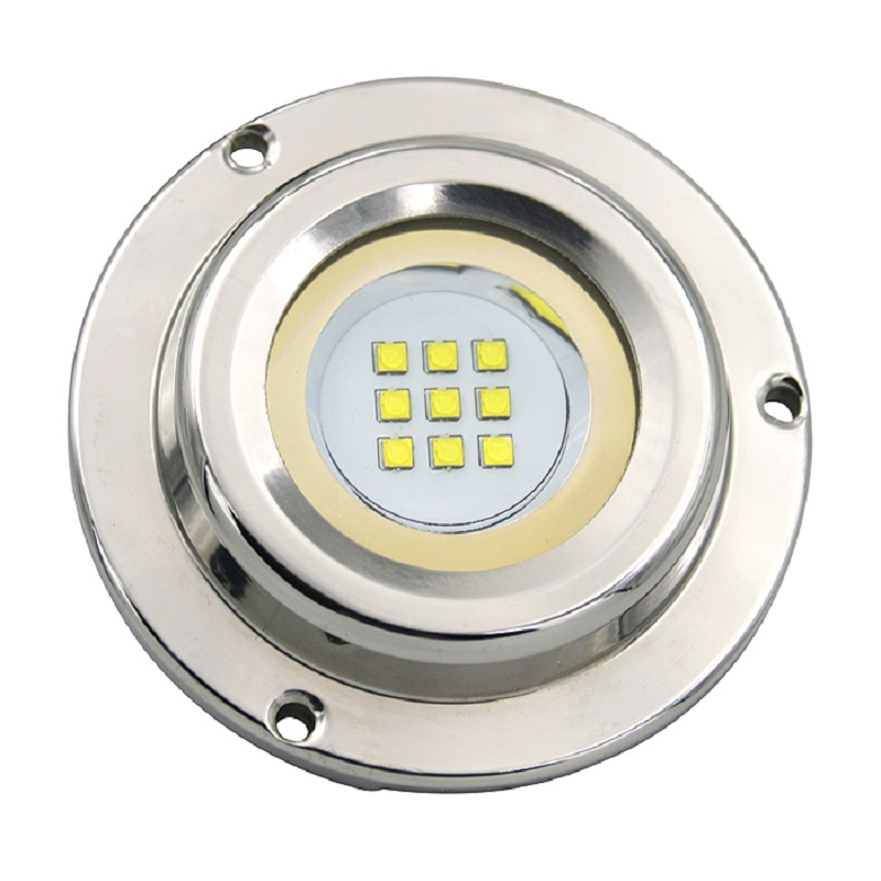 Lovely 12v 27w 316 Stainless Steel Ip68 Waterproof Led Underwater Submersible Marine Light Boat Dock Deck Light Tp-b27 Fashionable In Style;