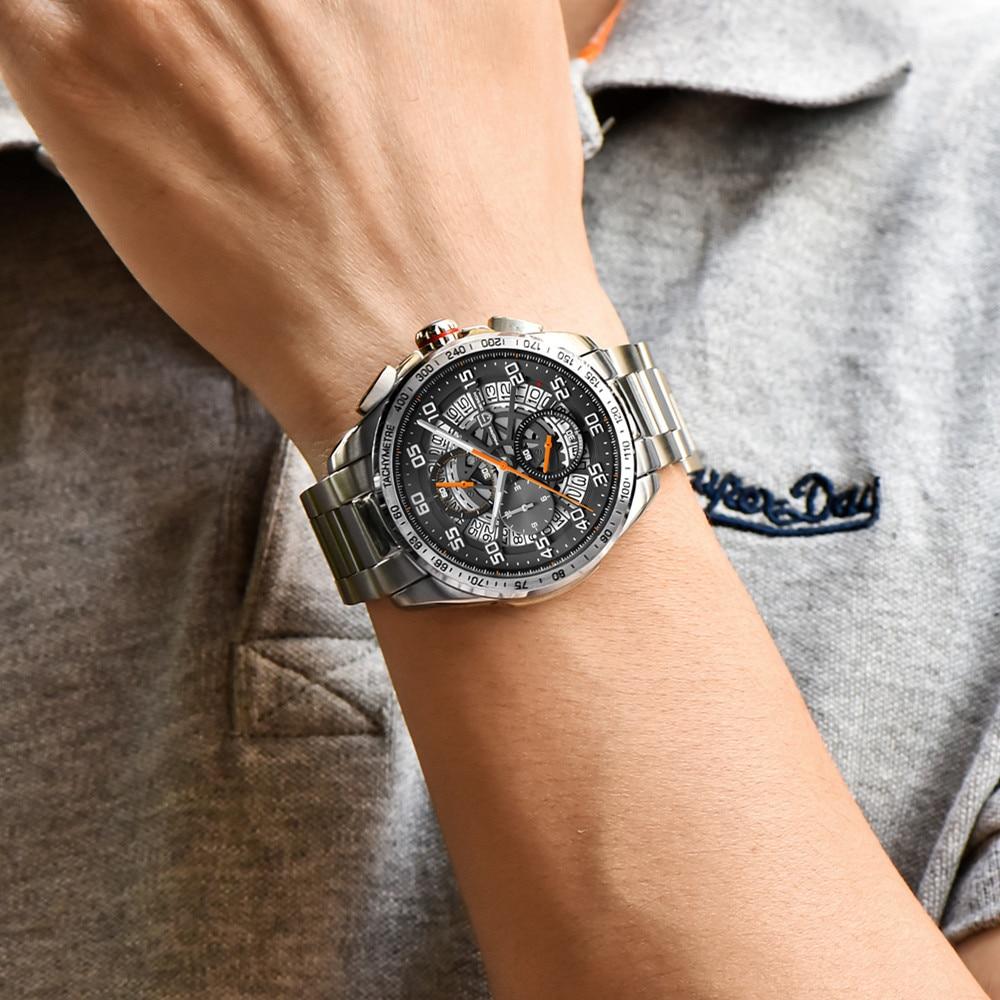 Relojes deportivos de marca de diseño PAGANI para hombre, cronógrafo militar, reloj militar de cuarzo, acero inoxidable, reloj militar para hombre, reloj Masculino, Saat - 2