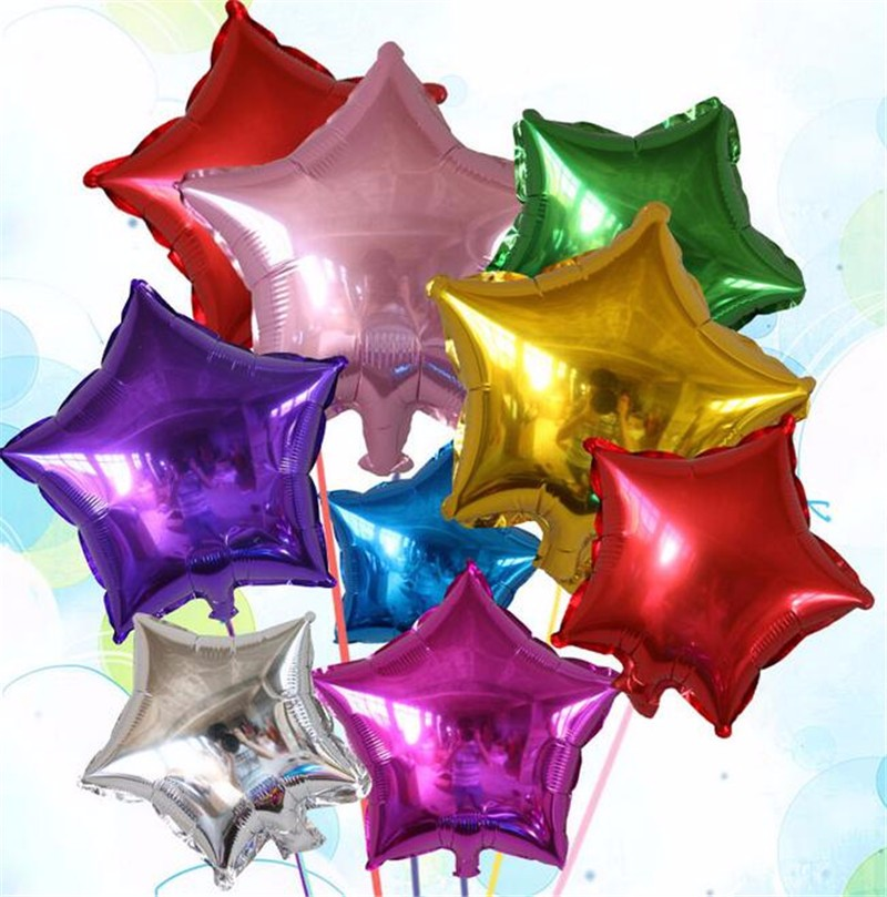 10pcs lot 18inch aluminum foil stars balloons christmas for 7 star balloon decoration