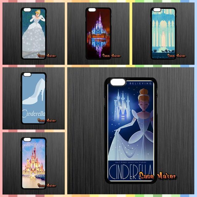 lovely princess cartoon cinderella castle case for iphone x 4 4s 5