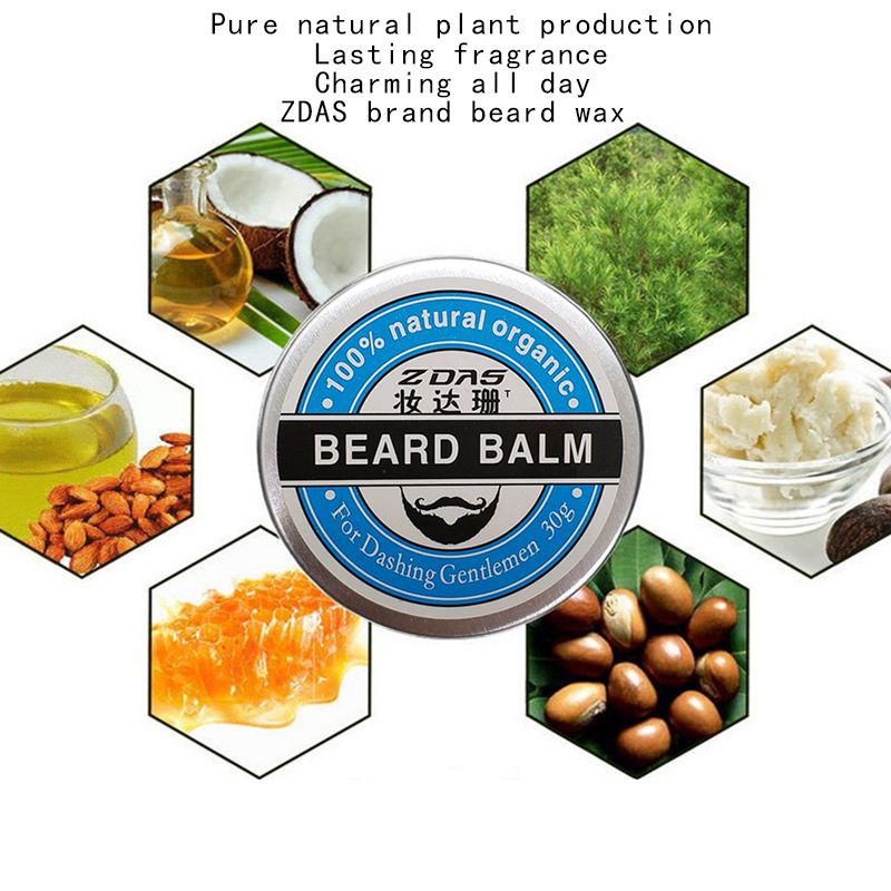 2018 New Beard Oil Balm Moustache Wax beard combgrooming conditioner beard balm for styling moisturizing smoothing gentlemen 2 4