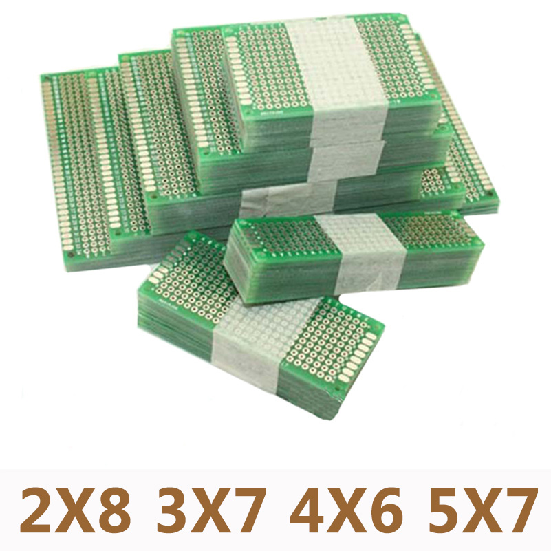 20pcs/lot 5x7 4x6 3x7 2x8cm Double Side Prototype PCB Universal Printed Circuit Board DIY For Arduino ...