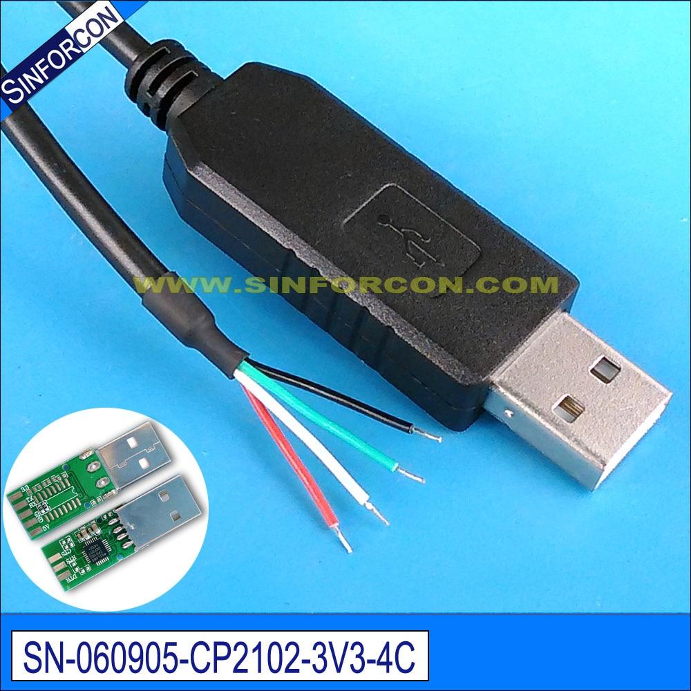 cable usb ttl diy cp2102 uart ttl 3.3v adaptador cable final cable - Cables de computadora y conectores - foto 2