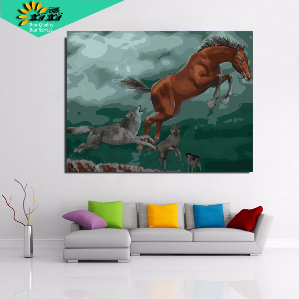 popular paint for number wolf buy cheap paint for number wolf lots digital diy oil painting by numbers wolf wall decor picture on canvas oil paint coloring by