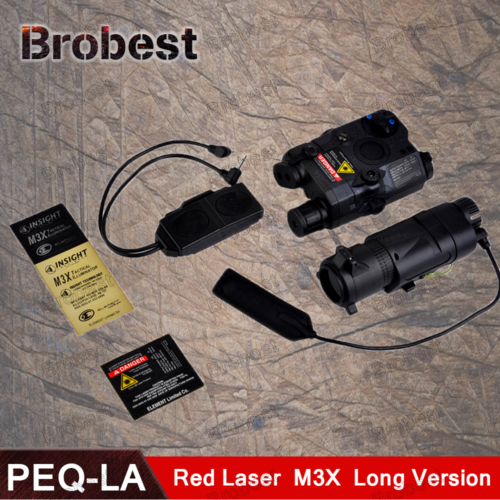 Airsoft Tactical LA5 PEQ 15 Red Laser Flashlight With M3X Light Double Remote Control PEQ-15 IR Laser Red Laser original fma tactical military airsoft an peq 15 battery box laser red dot laser with white led flashlight and ir lens tan bk