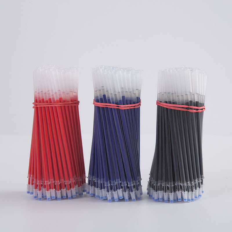 40pcs/lot Blue Red Black Ink <font><b>Refills</b></font> <font><b>Gel</b></font> <font><b>Pen</b></font> Replaceable Bullets <font><b>Needles</b></font> <font><b>Refills</b></font> 0.38 / 0.5mm for Writing Office School Supplies image