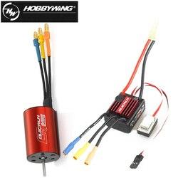 1 zestaw oryginalny Hobbywing QuicRun WP 16BL30 bezszczotkowy regulator prędkości 30A ESC + 2435 4500kv silnik dla 1/16 i 1/18 RC samochód w Części i akcesoria od Zabawki i hobby na