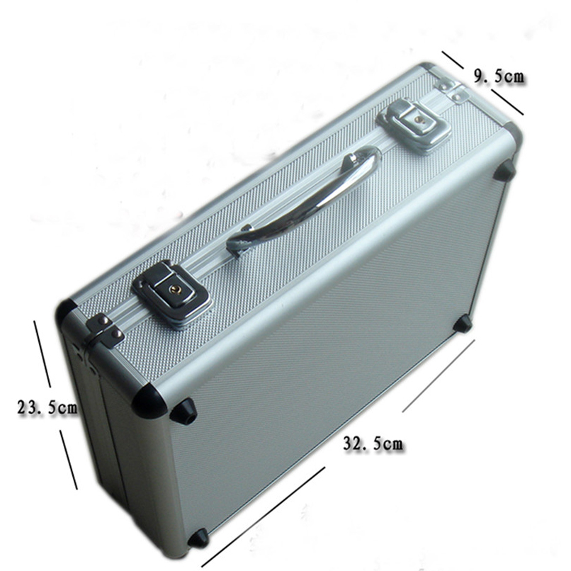 Wholesale retail good quality portable 300 yard code 4A square chips aluminum box poker carrying case bag suitcase silver black