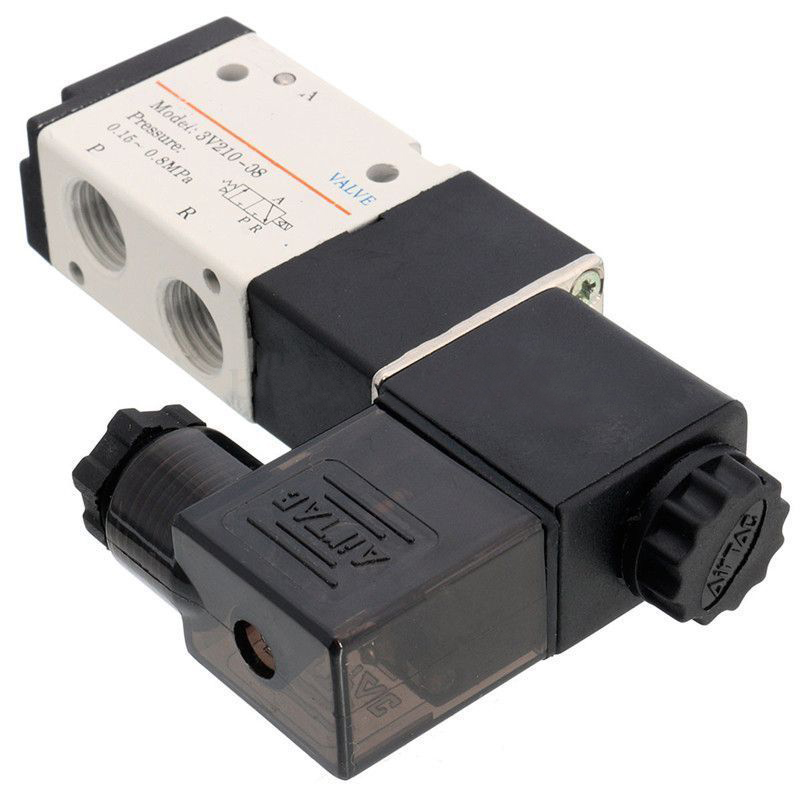 DC12V 1/4'' Solenoid Valve Air Gas 3 Way 2 Position Pneumatic Aluminum Electric Solenoid Valve for Water