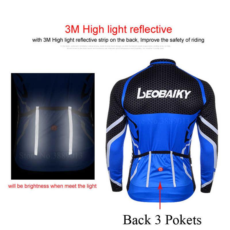 Pro Tim Bersepeda Pakaian Pria Lengan Panjang Sepeda Jersey Set Olahraga MTB Memakai Cepat Kering Pria Peta Sepeda Pakaian Pria riding Suit
