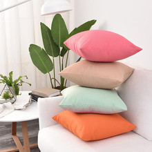 Solid Color Cushion Cover Simple Candy Color Throw Pillow Case For Sofa Home Decorative Pillowcase Car Seat Cushion Cover#Y20 gold leaves print pillow cover home cotton pillowcase cushion cushion decorative cushions for sofa seat covers throw pillow case