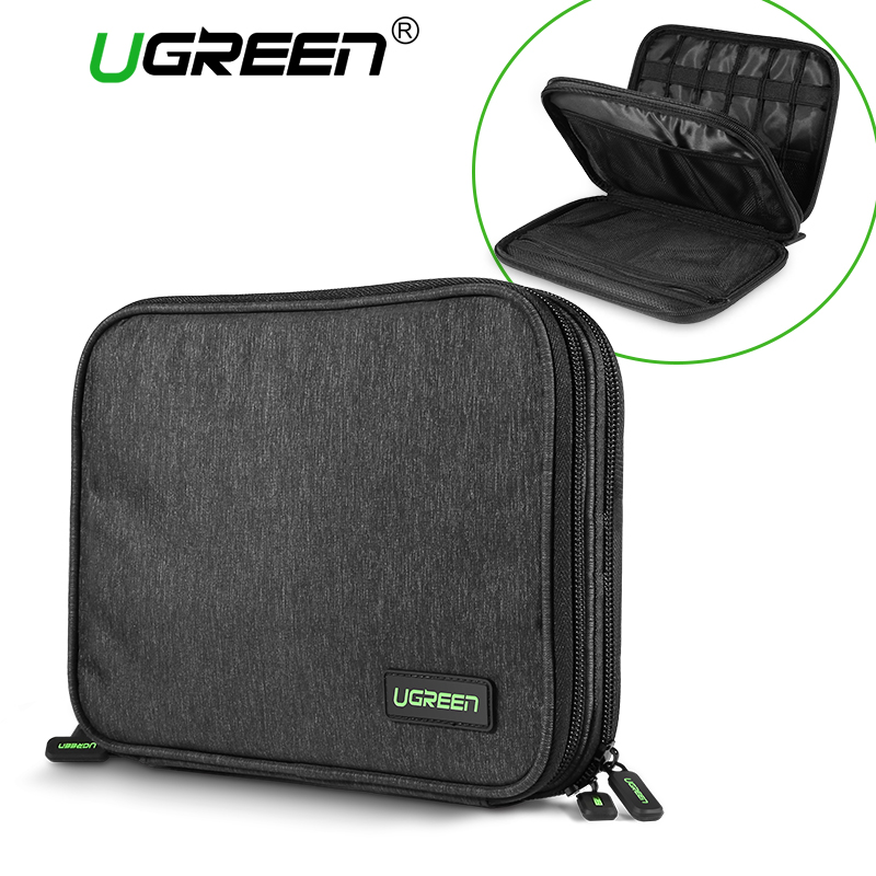 Ugreen Hard Case Power Bank Case Storage Carrying Box for iPad Mini iPhone SSD Bag External Hard Drive Disk Power Bank Case