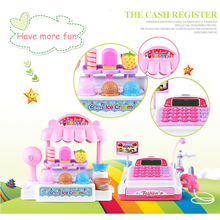 Simulation Supermarket Checkout Counter Ice Cream Goods Toys