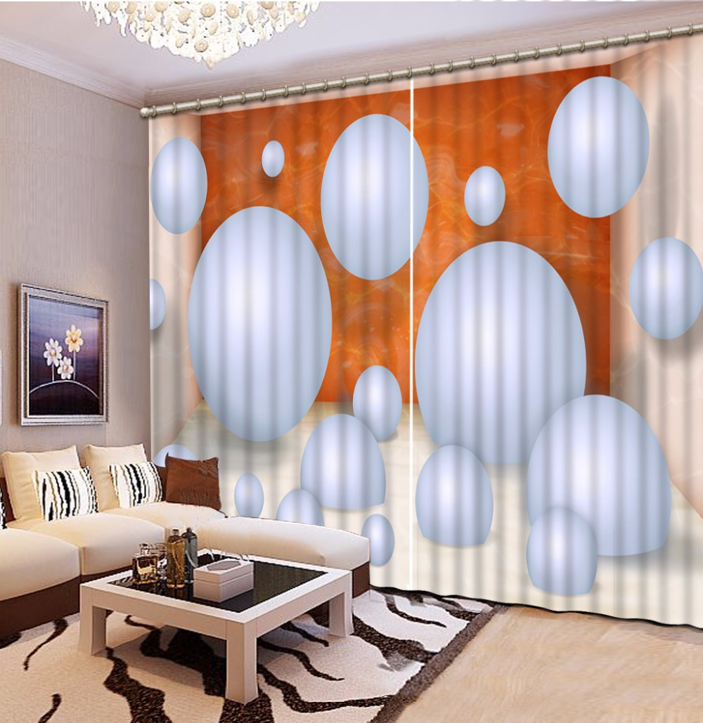 Creative Ball Bedroom Curtains 3D Printing Curtains For Living room Sheer Curtains For Kids Room Customized Drapes