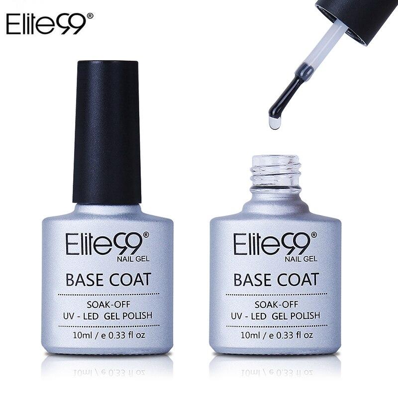 Elite99 Base Coating For UV Gel Polish Base Coat Nail Primer Gel For Nail Art Decal Nail Art Paint Cured with UV LED Lamp 10ml