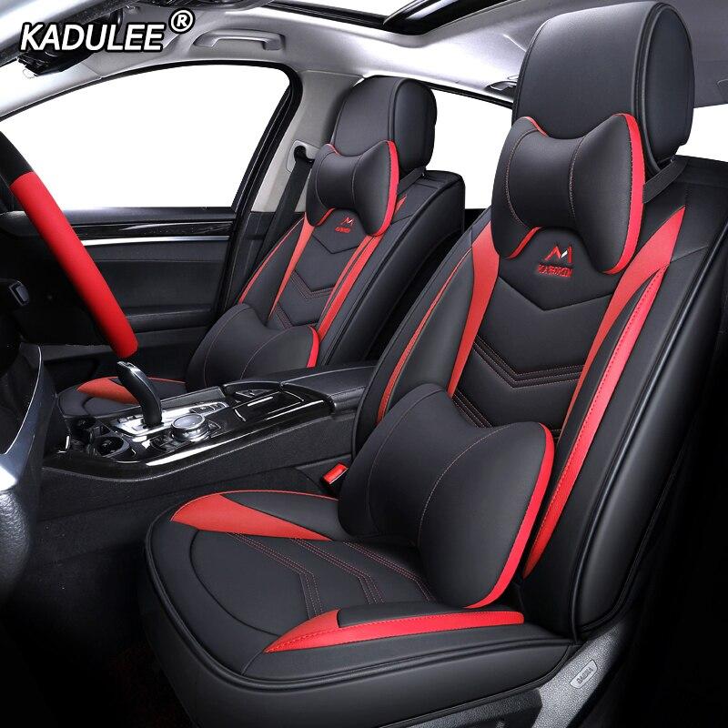 KADULEE housse de siège de voiture En Cuir pour mercedes w210 w245 w202 ml w163 w124 GLK GLA GLC GLS CLK E B une classe Automobiles Siège Couvre