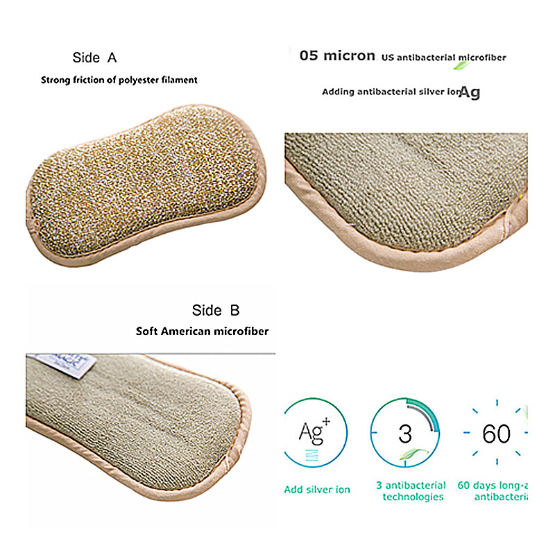 Image 5 - 5pcs Anti microbial cleaning sponge magic sponge melamine sponges kitchen sponge for washing dishes kitchen scourer pan brush-in Sponges & Scouring Pads from Home & Garden