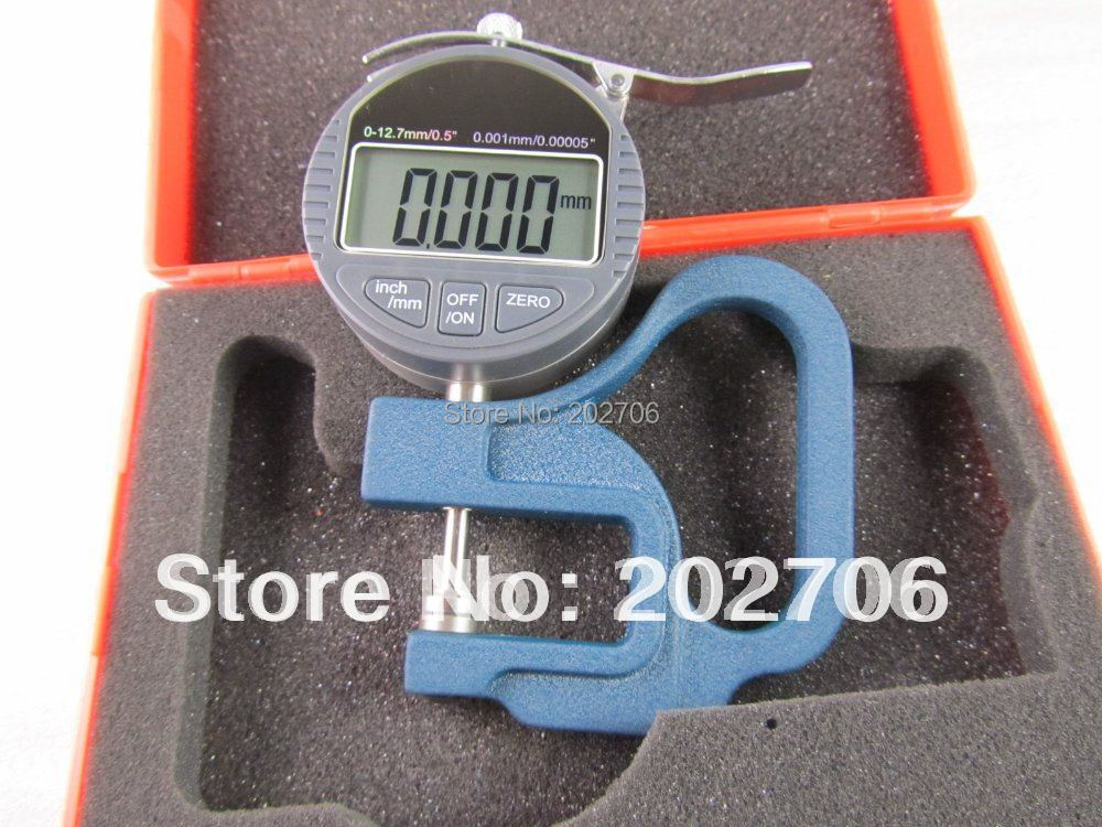 Drop shipping 0 12 7X0 001mm Micron Digital Dial Thickness Gauge with flat head Micron thickness