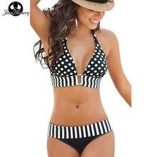 JaneMemory Bikinis Women Push Up Dot Swimsuit Bikini Set Plus Size Swimwear Bathing Suit Swim Beach Wear Large Size #71161