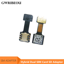Meizu 화웨이 xiaomi redmi 하이브리드 더블 듀얼 sim 카드 + 마이크로 sd tf 카드 어댑터 extender에 대한 2 나노 마이크로 미니 sim 슬롯 어댑터